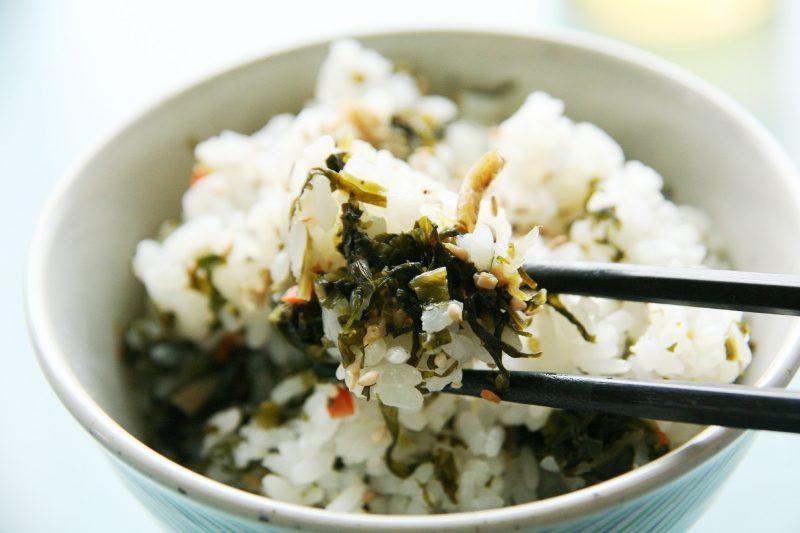 鳴沢菜の混ぜご飯